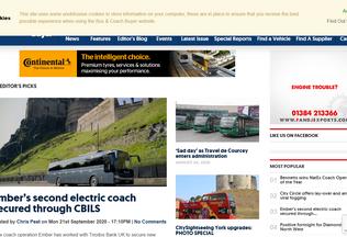 Website busandcoachbuyer.com desktop preview