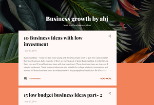 Website businessgrowthbyabj.blogspot.in desktop preview