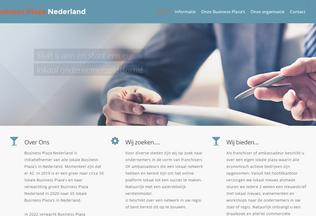 Website businessplazanederland.nl desktop preview
