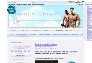 Website buy-steroids-canada.net desktop preview