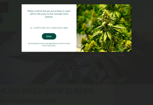 Website buyweedstrains.com desktop preview