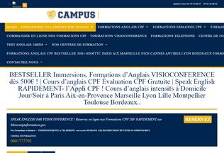 Website campus-immersion.fr desktop preview
