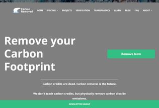 Website carbonremoved.com desktop preview
