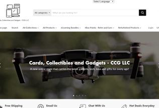 Website cardscollectiblesandgadgets.com desktop preview