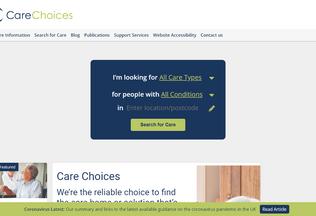 Website carechoices.co.uk desktop preview