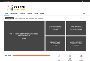 Website careerguarantee.com desktop preview