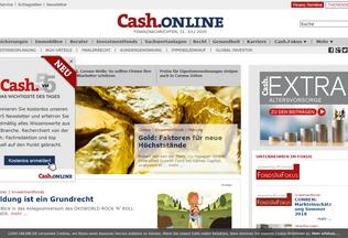 Website cash-online.de desktop preview