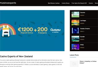 Website casinoexperts.nz desktop preview