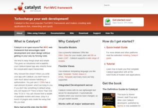 Website catalystframework.org desktop preview