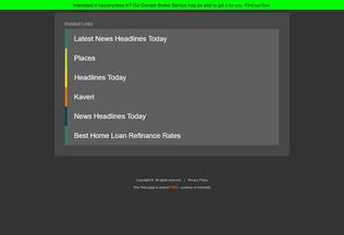 Website cauverynews.tv desktop preview