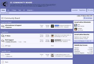 Website cc-community.net desktop preview