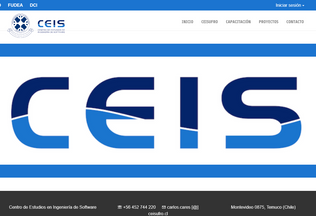 Website ceisufro.cl desktop preview