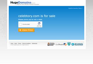Website celebtory.com desktop preview