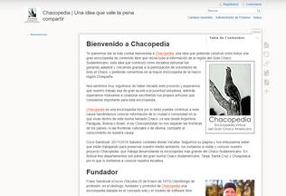 Website chacopedia.org desktop preview
