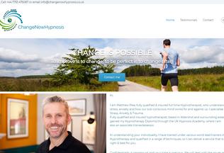 Website changenowhypnosis.co.uk desktop preview