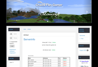 Website chaos-fun-gamer.de desktop preview