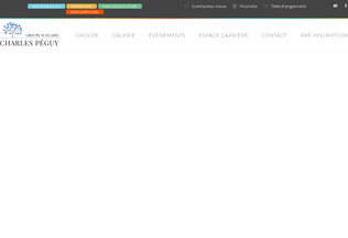 Website charlespeguy.ma desktop preview