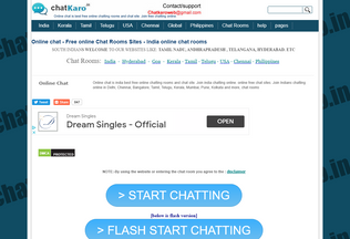 Website chatkaro.in desktop preview