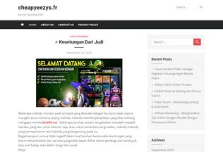 Website cheapyeezys.fr desktop preview
