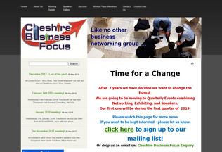 Website cheshirebusinessfocus.co.uk desktop preview