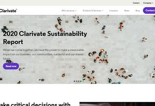 Website clarivate.com desktop preview