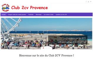 Website club2cvprovence.fr desktop preview