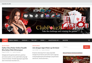 Website clubpokerindonesia.co desktop preview