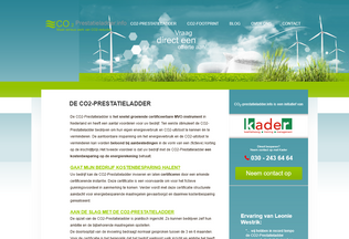 Website co2-prestatieladder.info desktop preview