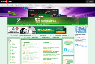 Website codigofonte.net desktop preview