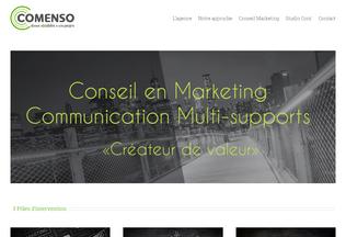 Website comenso.com desktop preview