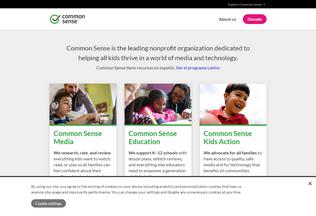 Website commonsense.org desktop preview