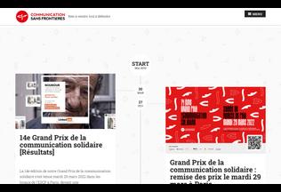 Website communicationsansfrontieres.org desktop preview