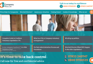 Website companyrescue.co.uk desktop preview