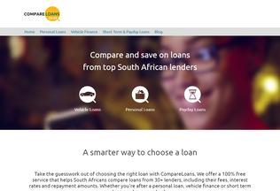 Website compareloans.co.za desktop preview