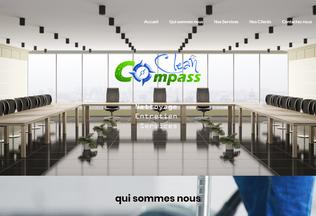 Website compassclean.be desktop preview