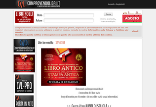 Website comprovendolibri.it desktop preview