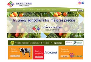 Website concentradosdelcentro.com desktop preview