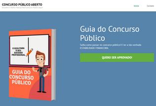 Website concursopublicoaberto.com.br desktop preview