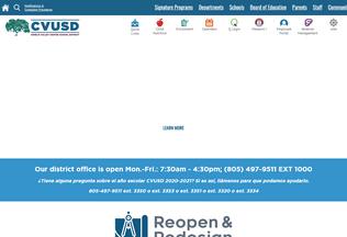 Website conejousd.org desktop preview