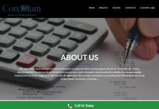 Website corcilliumwealthmanagement.co.uk desktop preview