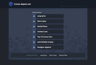 Website cortes-depelo.net desktop preview