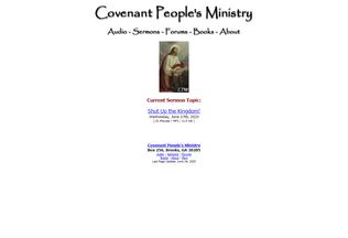 Website covenantpeoplesministry.org desktop preview