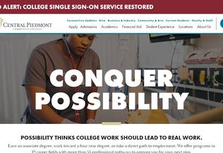 Website cpcc.edu desktop preview