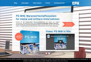 Website cph-software.de desktop preview