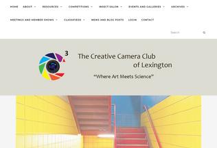 Website creativecameraclub.org desktop preview