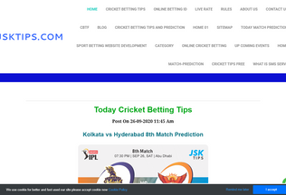 Website cricketbettingtipsfree.net desktop preview
