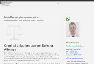 Website criminallitigation.co.uk desktop preview