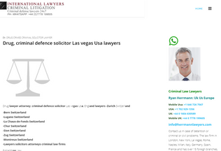 Website criminalsolicitorlawyer.co.uk desktop preview
