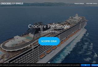 Website crocierepersingle.it desktop preview