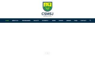 Website csmsj.edu.jm desktop preview